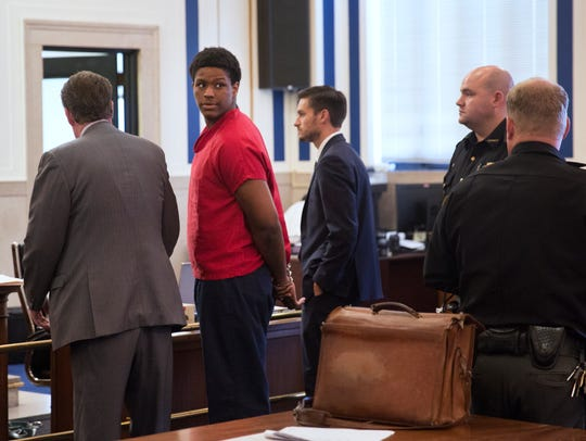 Javon Coulter during a competency hearing Tuesday,