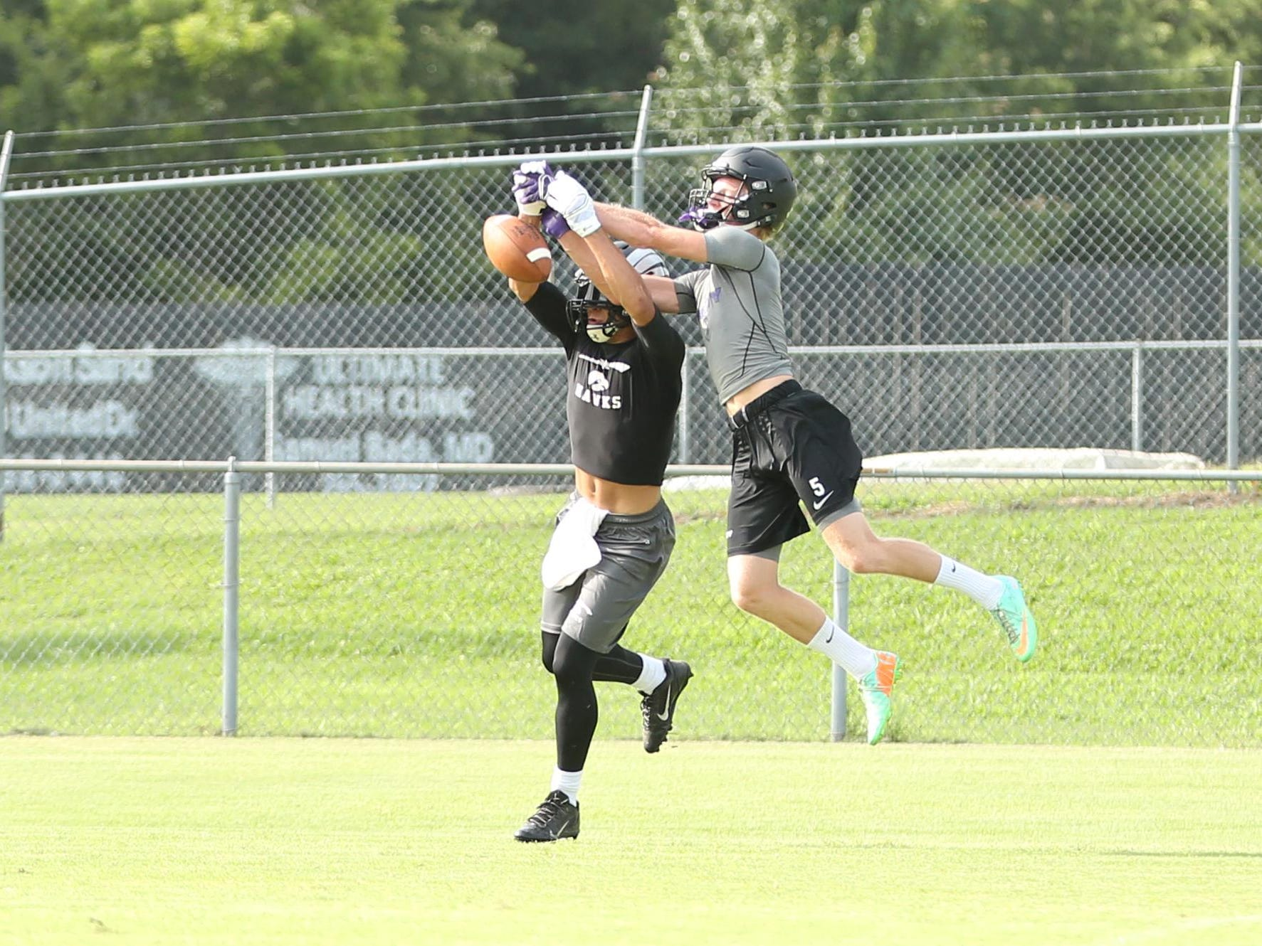 TCA's Eli Parker breaks up a pass against a South Side receiver on Monday.