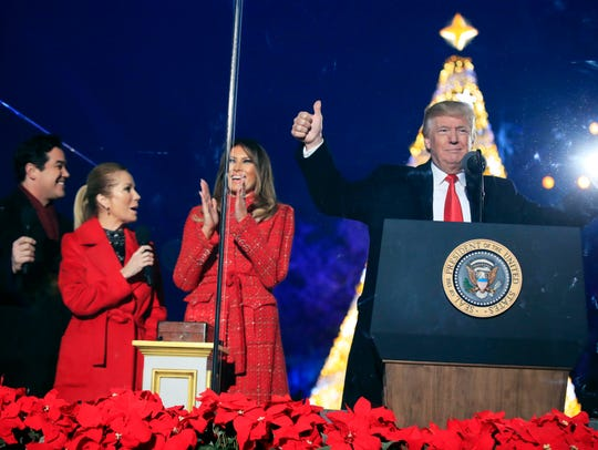 President Donald Trump and first lady Melania Trump,