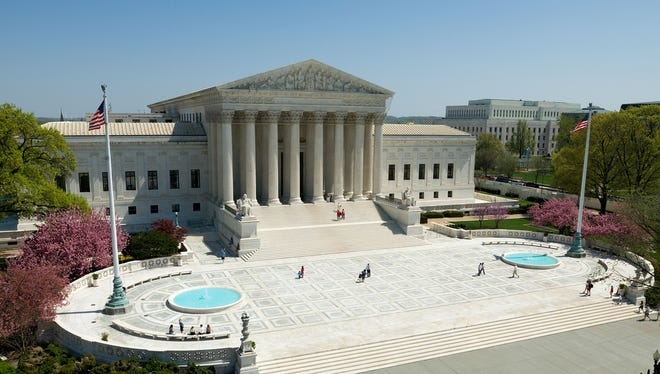 The plaza in front of the U.S. Supreme Court building in Washington, D.C., is off limits to public protests.