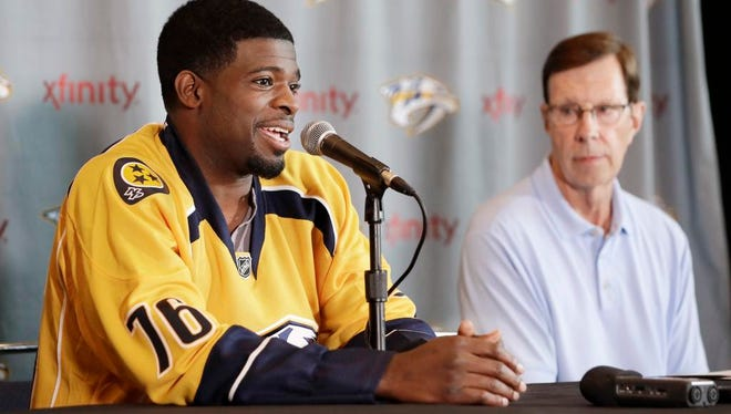 """The defenseman's persona is """"probably the biggest"""" that the Predators have ever had, GM David Poile says."""