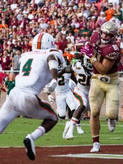 Florida State redshirt junior tight end Ryan Izzo ended the night with a decent stat line of four catches for 54 yards and a touchdown.