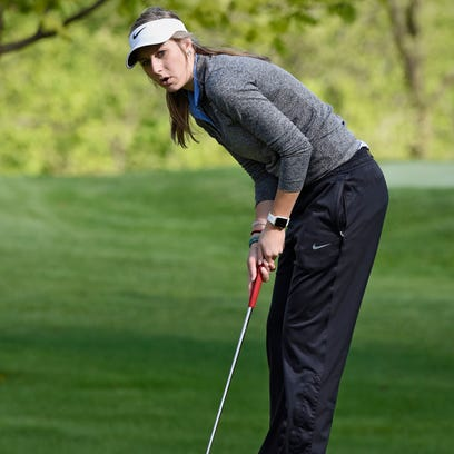 St. Cloud Cathedral senior Lauren Herker is the Times Area girls golf Player of the Year. Herker is looking to lead the Crusaders to their second straight Class 2A state meet.