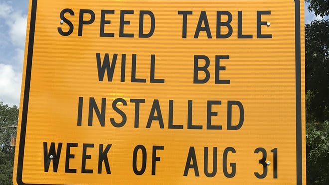 The city of Akron plans to temporarily install two speed tables next week in conjunction with the Akron Metropolitan Area Transportation Study to examine whether the measure is effective in reducing problem speeding in residential areas.