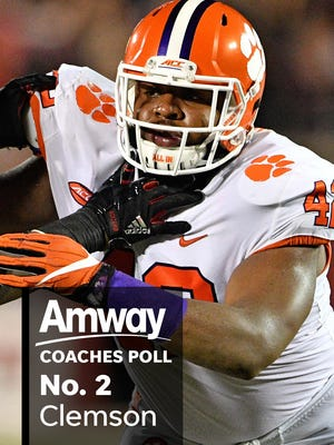 The Amway Coaches Poll is here.