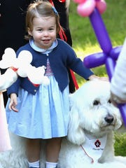 A double dose of cuteness: Princess Charlotte and shaggy