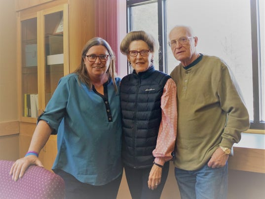 Left to right: Karen Rounds, Ruidoso Financial Analyst with Edward Jones and Tex and Mary Ann Crowell who attended a free session regarding financial advice at the Ruidoso Public Library recently.