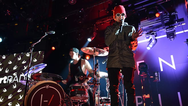 Twenty One Pilots, shown performing at the iHeartRadio Theater in Burbank, California, are playing Comerica Theatre, Phoenix.