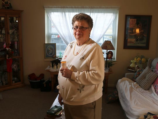 Marge Meffert, 72, suffers from peripheral neuropathy,