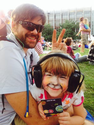 Shotgun earmuffs help make concert events such as 80/35 safe and enjoyable for young children.