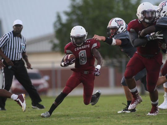 Madison County running back Derrion Staten during a spring game against Wakulla.