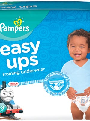 Pampers Easy Ups diaper brand by Procter & Gamble.