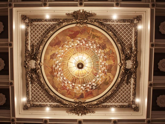 The chandelier in the Music Hall Springer Auditorium