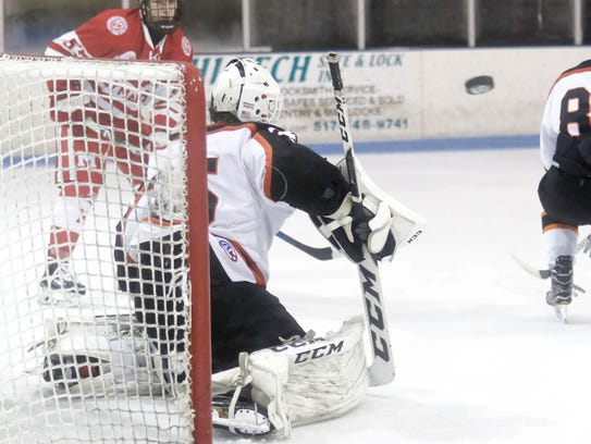 Brighton goalie Harrison Fleming made 30 saves in a