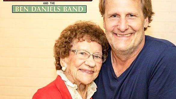 Jeff Daniels with the late Mary Smith, a local champion for the cause of Tibbits Opera House.