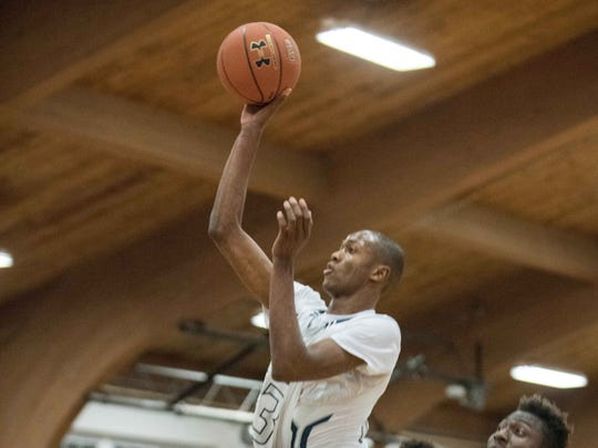 The Ranney School's Scottie Lewis scored 23 points in leading his tema to a 59-45 win over Mater Dei Prep.