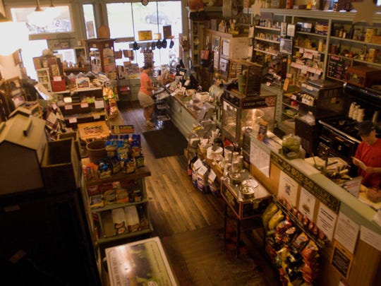 The inside of the Jericho Country Store hasn't changed much through the years. Doug and Linda St. Amour bought the store in April 2002, Their son Jon is co-owner and manager.