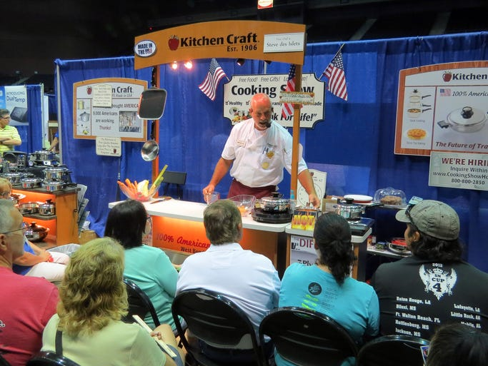Kitchen Craft home cooking demonstration Saturday at the Home Builders Association of West Florida Home Product Expo being held over the weekend at the Pensacola Bay Center.  The expo continues through Sunday.