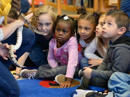 Welcome Elementary kindergartners, from left, Vinnie