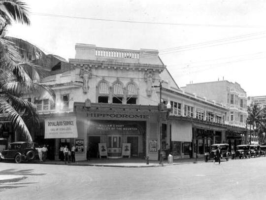 The Crusoe movie was shown at the Hippodrome Theatre