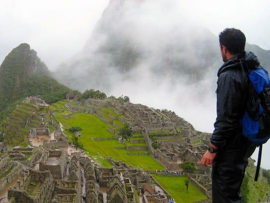 Gareth Leonard overlooking the Machu Picchu ruins in
