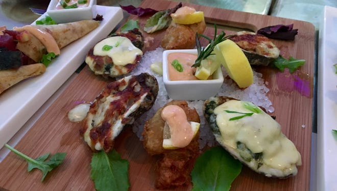 An assorted platter of oysters from BLANC in south Fort Myers.