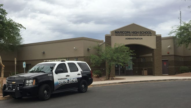 Classes were canceled at Maricopa High School on Sept. 20, 2016 after a bomb threat.