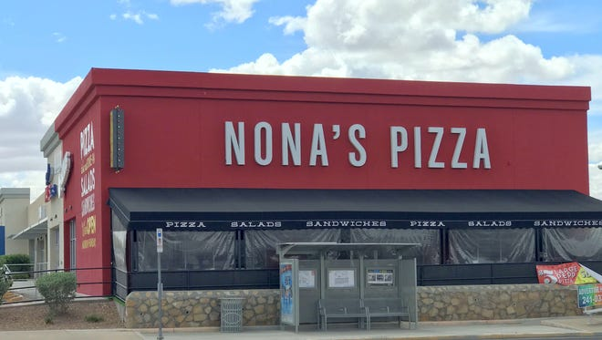 Nona's Pizza's East El Paso location at 10420 Montwood at Yarbrough is closing Mach 31 to make way for a new restaurant concept.