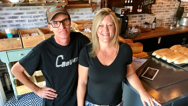 Owners Sean and Valerie Gavin of Crave restaurant in Fort Myers.