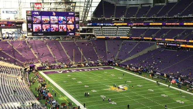 USBank Stadium before the Packers-Vikings game