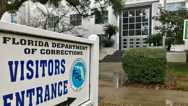 The Florida Department of Corrections Carlton Building on South Calhoun Street.