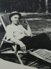 Dan Hoan at Carpenter Lake, his summer home near Eagle