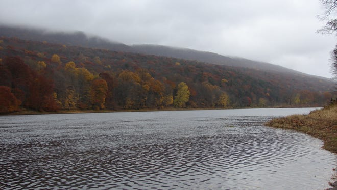 A section of the Delaware River, which runs through New York, New Jersey, Pennsylvania and Delaware, and whose watershed is over 13,000 miles in size.