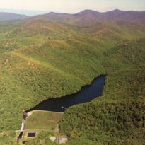 Bee Tree Reservoir in Swannanoa is the smaller of the two lakes in eastern Buncombe County that Asheville draws drinking water from.