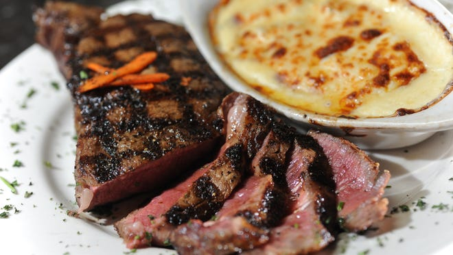 Silver Star Steakhouse offers a 20-oz. certified Angus hand-carved ribeye with au gratin potatoes. Gilchrist said her steak was tender and perfectly seasoned, though its more delicate flavors were almost overpowered by the delicious, though quite spicy, rich cheese sauce on the potatoes au gratin.