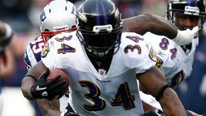 Ricky Williams rushed for 10,009 yards in his NFL career, which ended after the 2011 season. He played for the New Orleans Saints, Miami Dolphins and Baltimore Ravens.