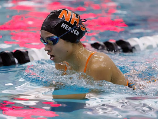 Northville's Lauren Heaven was on the first-place 200-yard