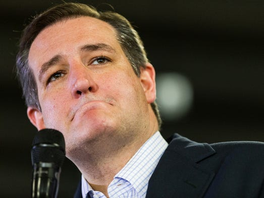 Presidential candidate Sen. Ted Cruz pauses while speaking