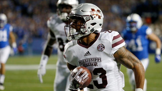 Mississippi State wide receiver Keith Mixon has scored touchdowns in consecutive games.