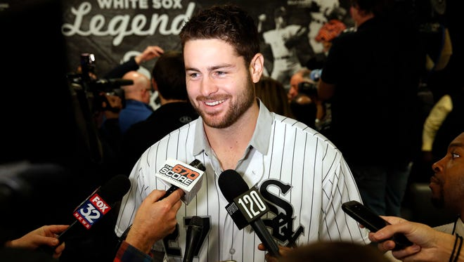 Chicago White Sox pitcher Lucas Giolito was a key piece to the trade that sent outfielder Adam Eaton to the Washington Nationals during the offseason.