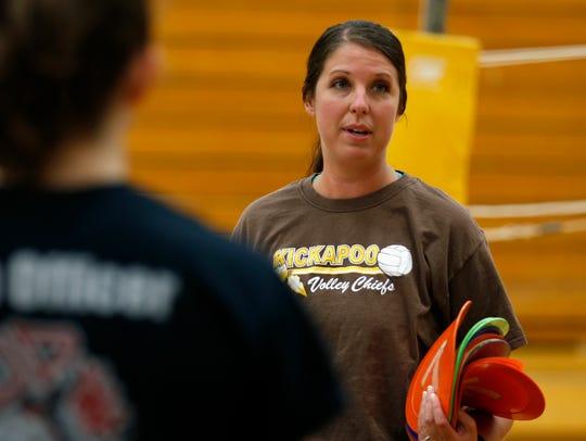 Kickapoo girls volleyball head coach Marci Johnson