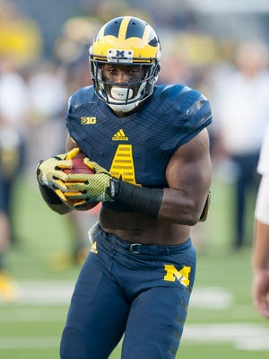 De'Veon Smith and the Wolverines play their first home game on Sept. 12 against Oregon.