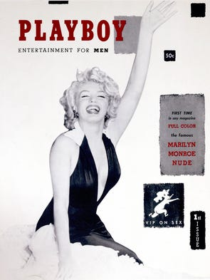 December 1953 cover for Playboy Magazine featuring