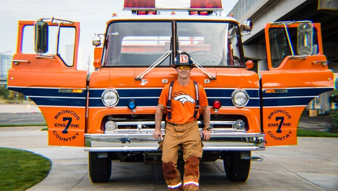 PFA firefighter Robert Garner and his firetruck Broncos Country Engine 7.