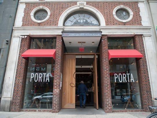 Exterior of Porta in Philadephia.