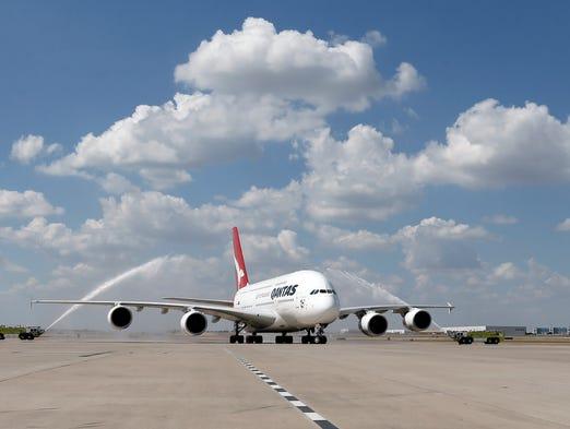 Qantas Unveils A380 Sized Hangar At Lax