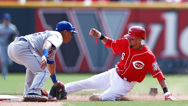 After 13 successful attempts, Billy Hamilton was caught stealing for the fist time.