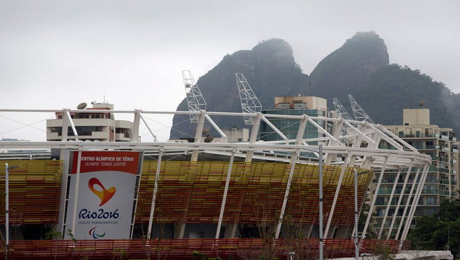 Partial view of the Tennis Center at the Olympic Park for the 2016 Olympics in Rio de Janeiro, Brazil, on Jan. 15, 2016.