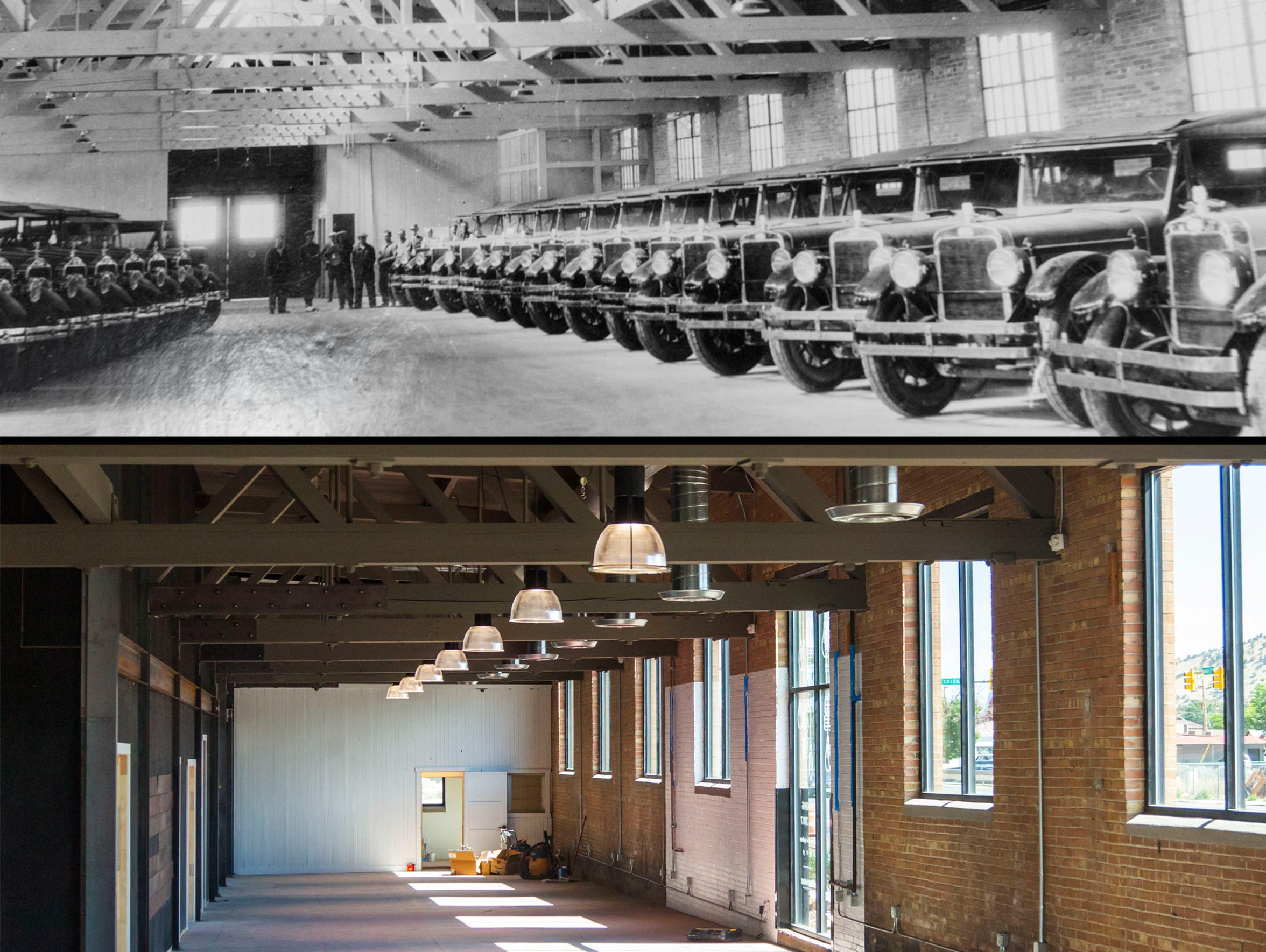 A historical and modern view of the building at 451