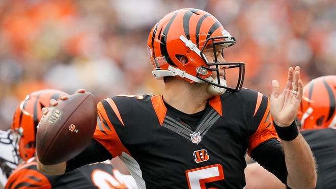AJ McCarron is now the starter for the foreseeable future for the Cincinnati Bengals as Andy Dalton suffered a broken thumb in a loss to Pittsburgh.